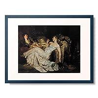 Makart, Hans,1840-1884 「Marmorherzen. Um 1880.」 額装アート作品