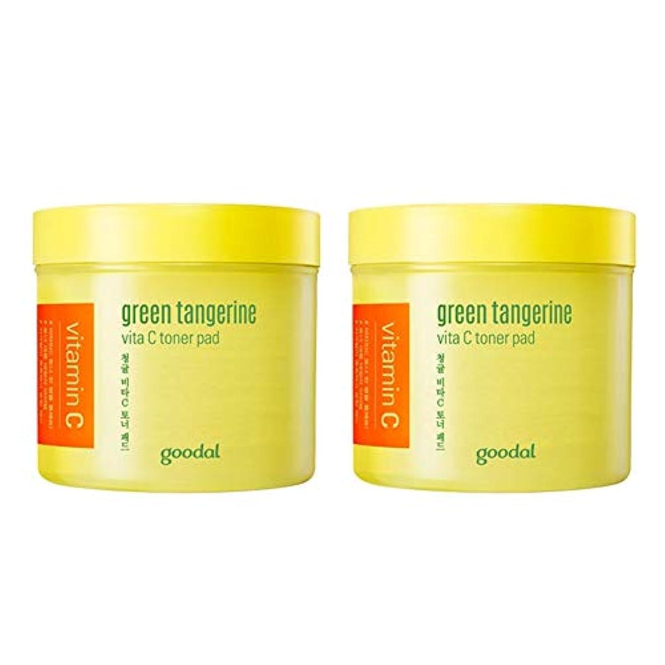 王子流行しているチョークグドール青みかんヴィータCトナーパッド70px2本セット質除去、水分供給 韓国コスメ 、Goodal Green Tangerine Vita C Toner Pad 70p x 2ea Set Korean Cosmetics...