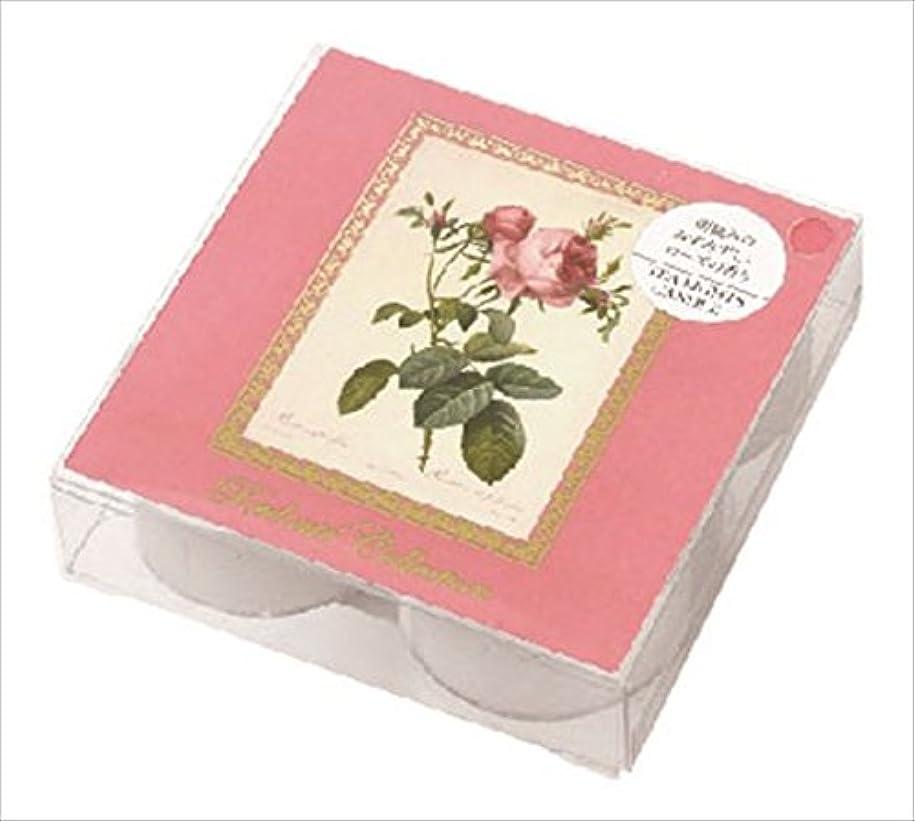 バルク商業のハンマーカメヤマキャンドル(kameyama candle) ルドゥーテクリアカップティーライト4個入 「 ピュアローズ 」