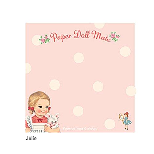 ペーパドールメイト/ブロックメモ-Julie/かわいいメモ/200枚入り