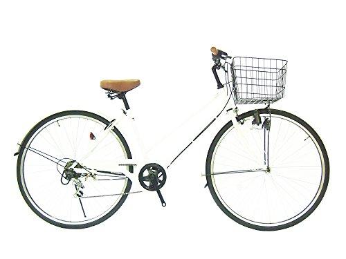 Lupinusルピナス 自転車 26インチ LP-266TD-W シティサイクル シマノ製外装6段ギア ブラックリム ホワイト 100%完成車