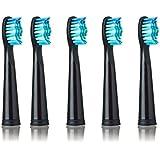 SEAGO 949/507/610/659用電動歯ブラシヘッド抗菌自動歯ブラシヘッド電動歯ブラシ - ブラック