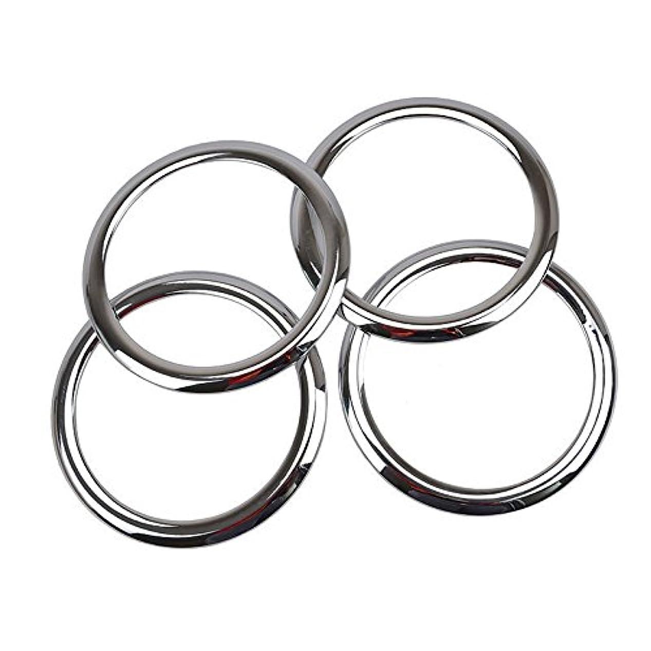 一掃する上級ハミングバードJicorzo - ABS Chrome Car Door Stereo Speaker Collar Cover Trim Bezel Fit For 2007-2015 Patriot Compass Car Interior...