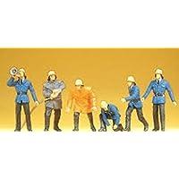Firemen in Action Poses Set #2 (6) HO Scale Preiser Models by Preiser [並行輸入品]
