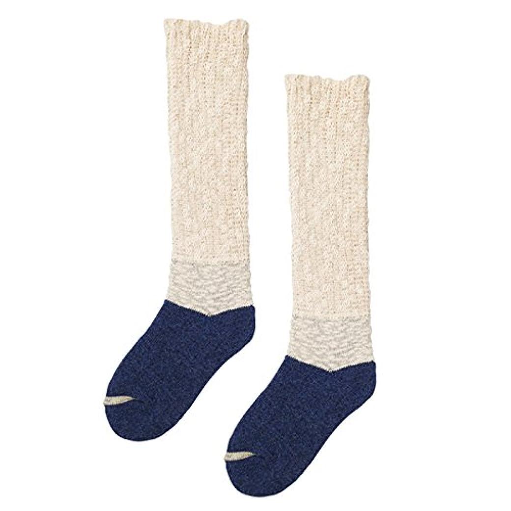 省モットーヒステリック砂山靴下 Carelance(ケアランス) お風呂上りの靴下 膝下 8592CA-70 ブルー