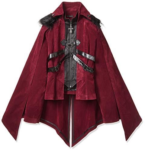 ゴシックパンク ジャケットコート レッド レディース 3XLサイズ DF-CT06502-F3XL