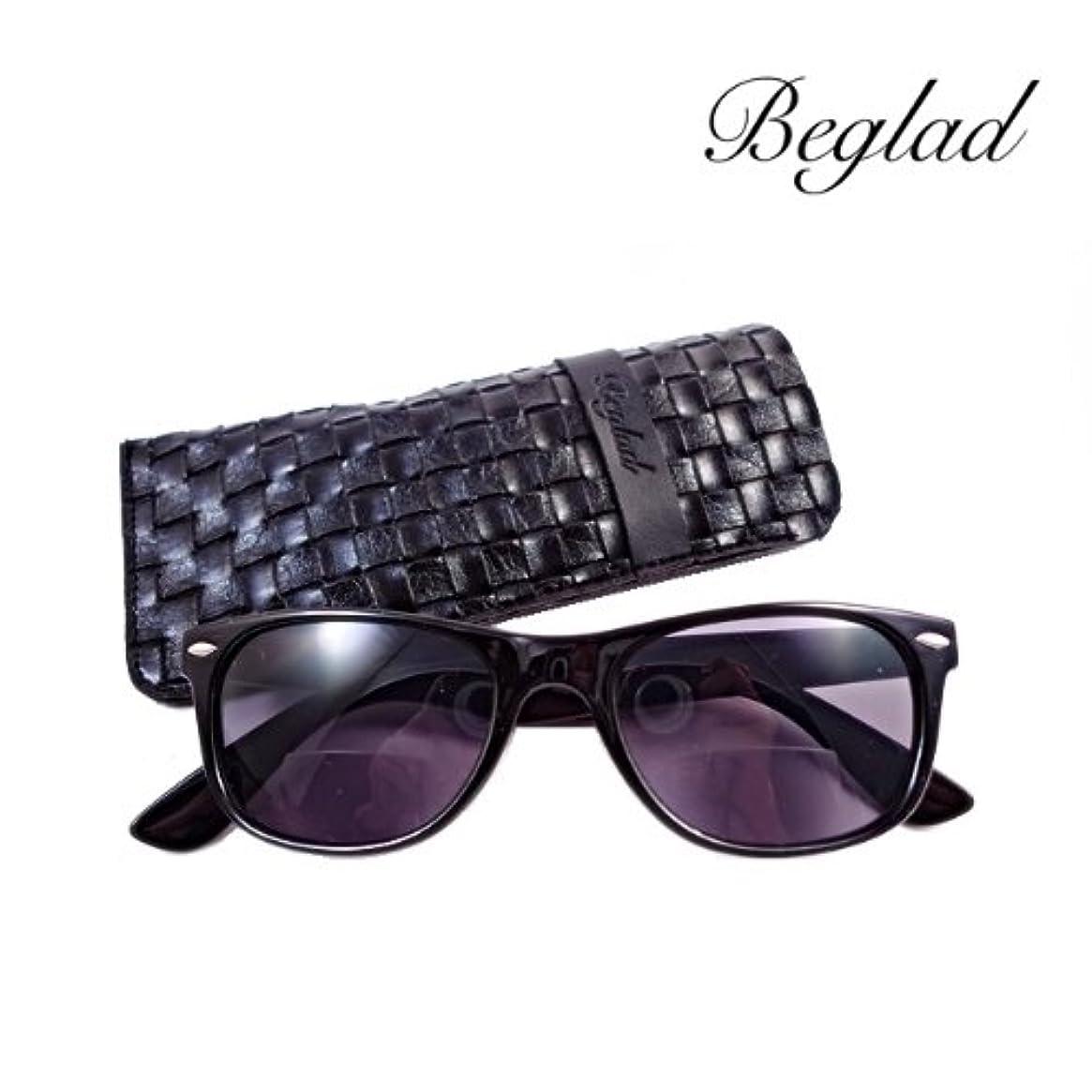 BEGLAD(ビグラッド)おしゃれなケース付 老眼鏡 BGE1009BK レジャーに最適な遠近両用タイプのサングラス