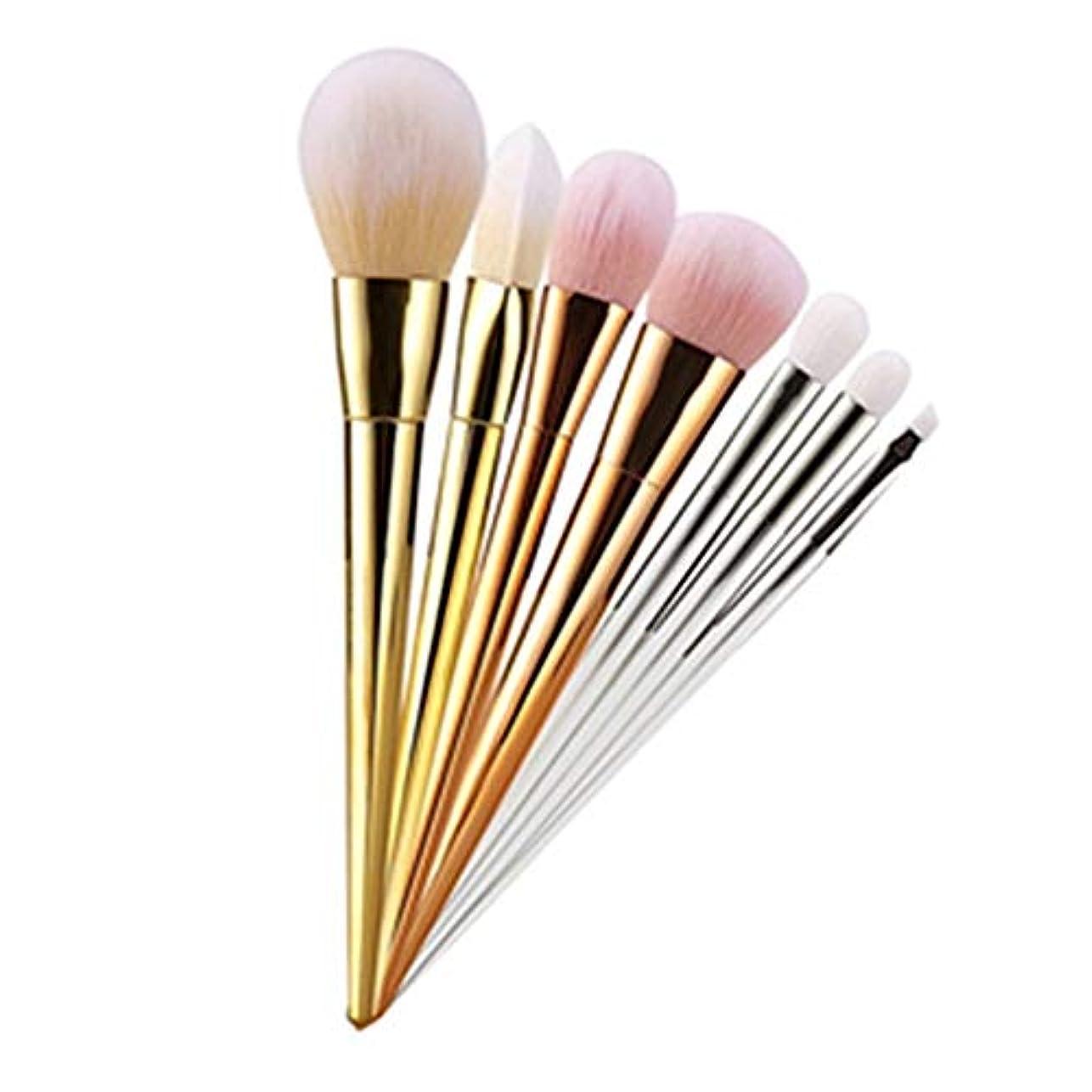 美容メイク 7ピース 化粧ブラシセット メイクブラシ 化粧筆 シリーズ 化粧ブラシセット 高級タクロン 超柔らかい 可愛い