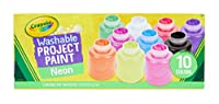 Crayola Washable Neon Paint 2oz 10/Pkg- (並行輸入品)