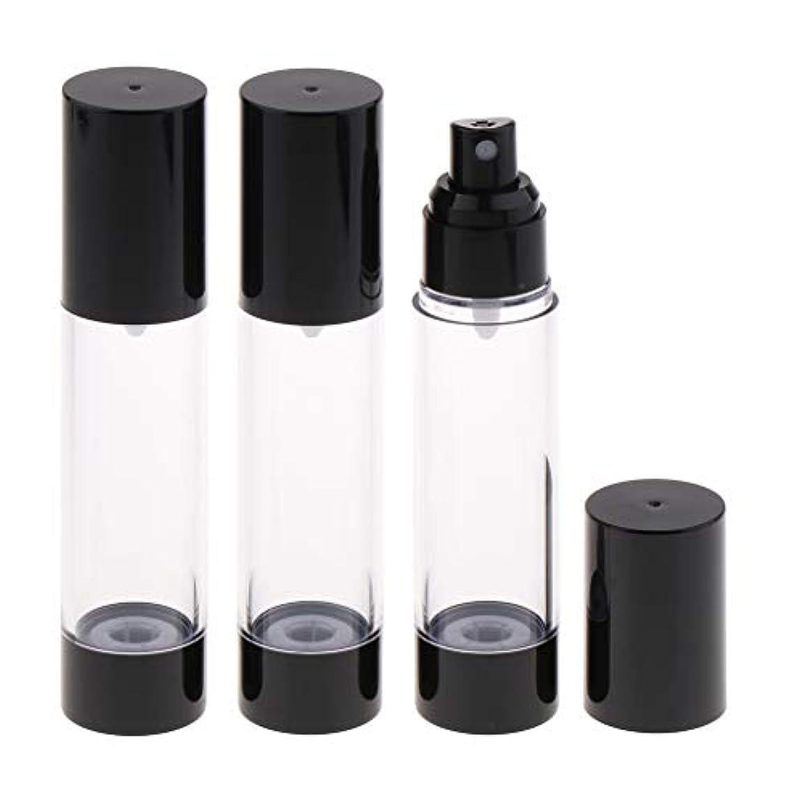 思い出すしばしば奨学金香水アトマイザー スプレーボトル 真空ボトル 霧吹き 詰め替え 再利用可能 漏れ防止 携帯用 3個 - 50mlミスト