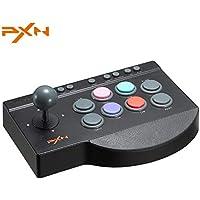 アーケード コントローラー アケコン PXN 0082 ジョイスティック 格闘ゲーム for PS4/PS3/XBOX ONE/Nintendo switch/PC 対応 TURBO機能 MACRO機能付き