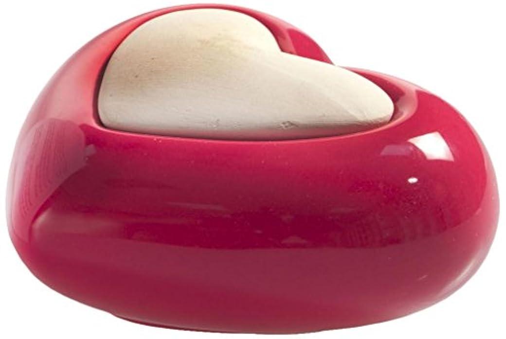 アスレチックゴルフ高くMillefiori HEART ルームフレグランス用 ハート型セラミックディフューザー レッド LDIF-CM-003