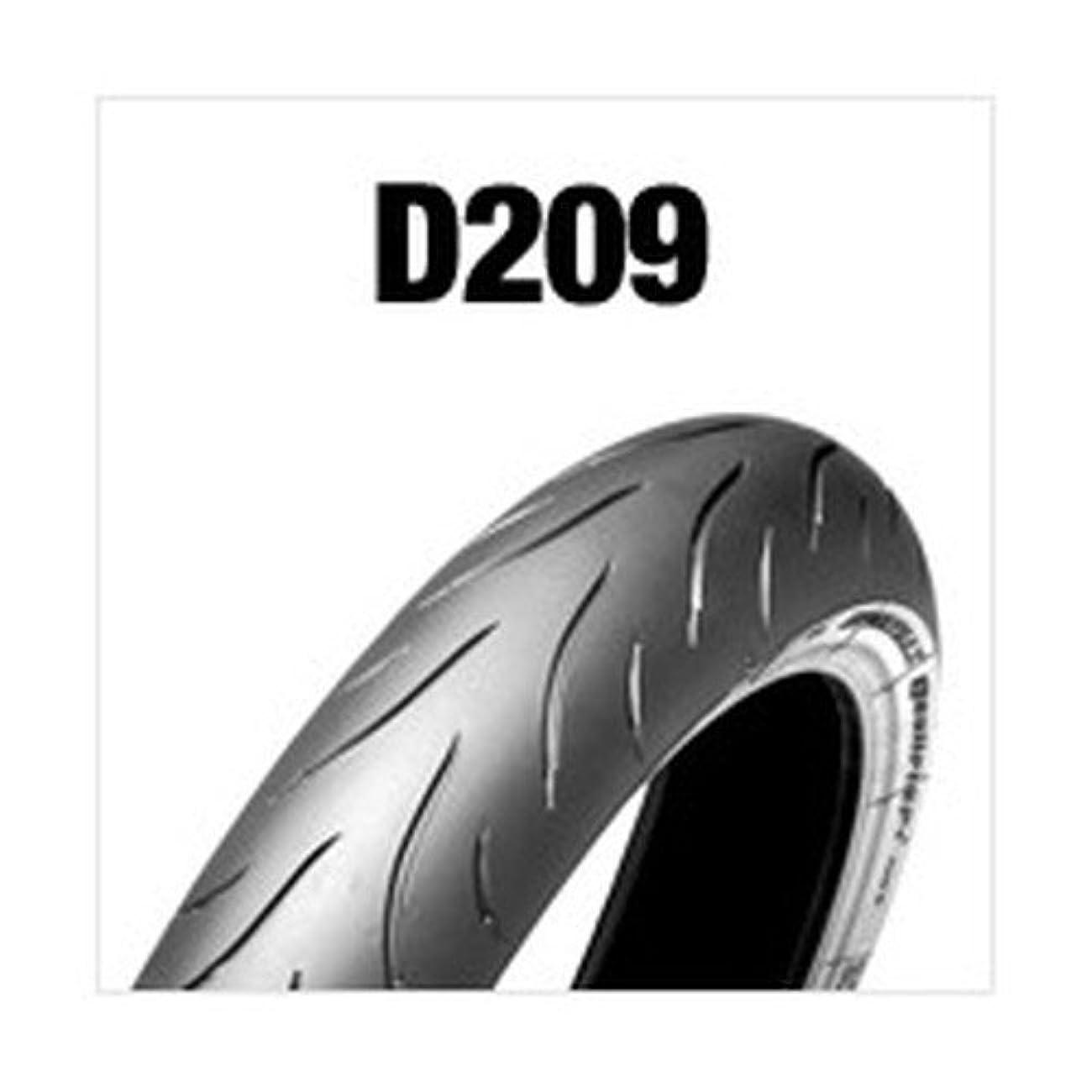 相対的里親ほぼDUNLOP(ダンロップ)バイクタイヤ D209 フロント 120/70ZR18 M/C 59W チューブレスタイプ(TL) ラジアル構造 ブラックサイドウォール(BW) 286019 二輪 オートバイ用