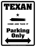 """Parking Only Sign - TEXAN """"Don't Tread On Me"""" - Laminated - Individual Package - 8.5"""" x 11"""""""