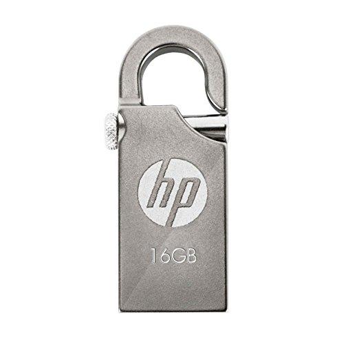 HP USBメモリ 16GB USB2.0 ミニフック 耐衝撃 防滴 防塵 金属製のフラッシュドライブ v251w HPFD251W-16