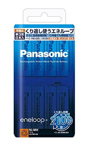 パナソニック エネループ 単3形充電池 8本パック スタンダードモデル BK-3MCC/8...