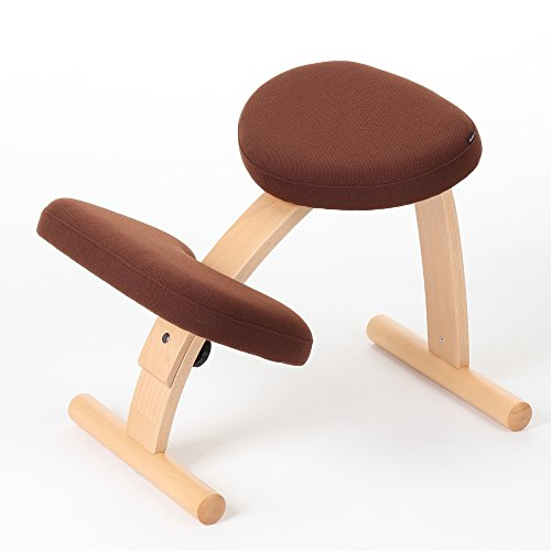 バランスチェア イージー Dブラウン 姿勢が良くなる椅子 学習椅子 姿勢 矯正 椅子 猫背 子供用