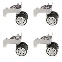 Shiwaki スーツケース タイヤキット 交換用ホイール 耐荷重 グレー 4個