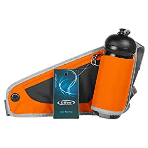 G4Free ランニングポーチ ジョギングポーチ ペットボトル収納 2way スポーツ用 イヤホン穴付 サイクリング 自転車 散歩 男女兼用