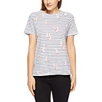 French Connection Women's Pelican Stripe TEE, Smmrwht/nctrnl/Multi