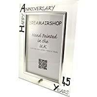 45th Year(Sapphire) Wedding Anniversary Gift Photo Frame (P) (Black/Silver by Dreamair