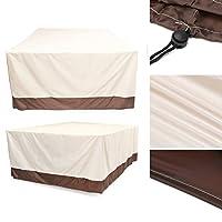 Beho 防水ガーデンパティオ家具カバー屋外籐テーブル UV ダストレインプルーフプロテクター