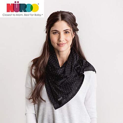 Nuroo 授乳ケープ 授乳カバー ナーシングスカーフ (ブラック)