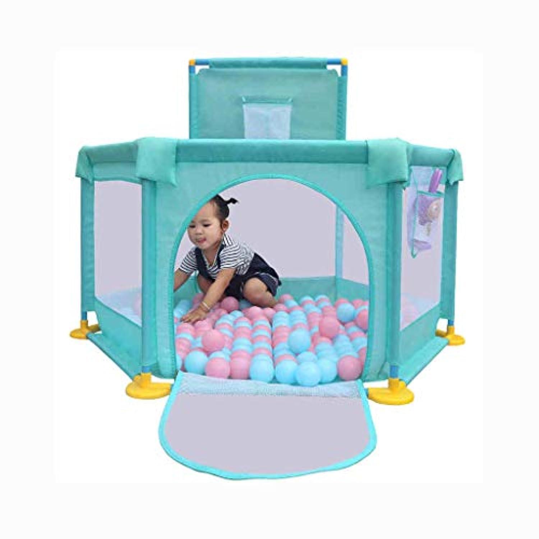 家庭用撮影フェンスフェンスゲームフェンス屋内家の安全クロール幼児幼児フェンス (Color : Green, Size : 128 * 66cm)