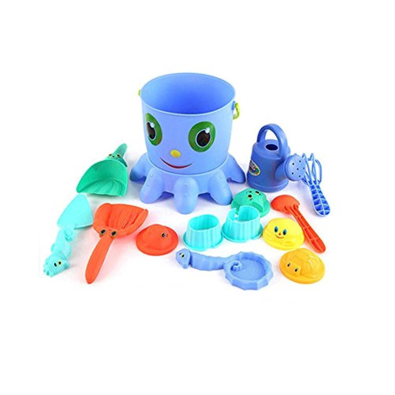 VIVARISE 知育玩具 砂あそびセット 親子で遊ぼう タコ型 室内ビーチ 砂あそび砂遊び 14個セット