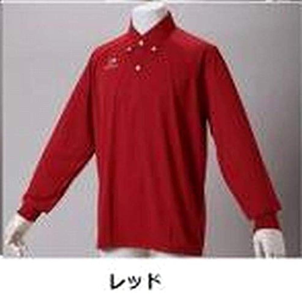 絵散らす人道的ファイテン(phiten) ポロシャツ (OZ) ボタンダウン2 (長袖タイプ)レッド Lサイズ