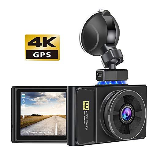 ドライブレコーダー 4k解像度 車載カメラ2160pフルHD GPS機能搭載 400万画素 広角170° Gセンサー WDR機能搭載 ループ録画 駐車補助 一年保証