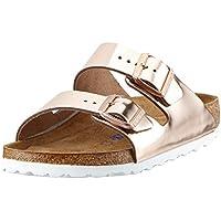 Birkenstock Arizona Narrow Fit - Metallic Copper 952093 (Man-Made) Womens Sandals 36 EU