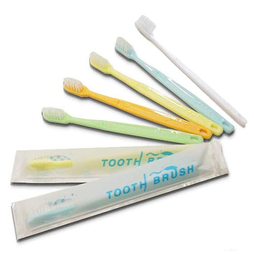 融合についてホテルアメニティ 業務用 インスタント歯ブラシ粉付着タイプ(5色アソート) ×300本
