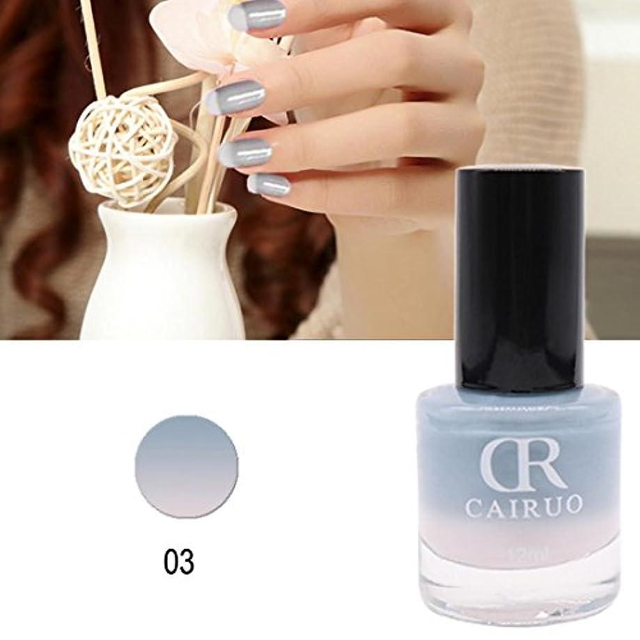 ネイルカラー BOBOGOJP 26選 色のバリエーション豊富 透明感 マニキュア 人気 流行 塗りやすい 速乾 nail 指先 爪先 ネイル用 温度にり色が変わるネイルポリッシュ (C)