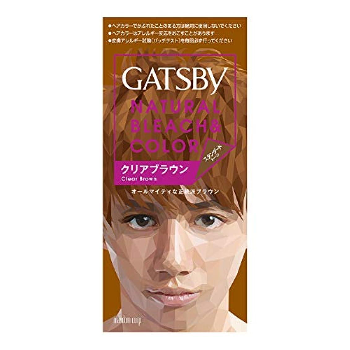 小説家元の放射性ギャツビー ナチュラルブリーチカラー クリアブラウン【HTRC5.1】