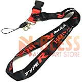 Auto Lanyard with Clip Quick Release Buckle for Racing Type-R Type R Inspired Key Lanyard Double Side Racing Cell Holders