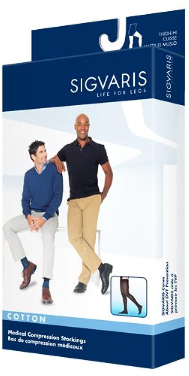 古代あいまいさ熱狂的なSigvaris Men's Cotton Thigh High with Grip Top 20-30mmHg Closed Toe Short Length, Large Short, Crispa by Sigvaris