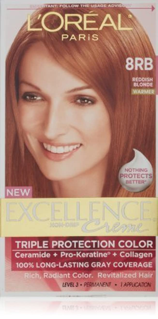 長くする余韻プログレッシブExcellence Medium Reddish Blonde by L'Oreal Paris Hair Color [並行輸入品]