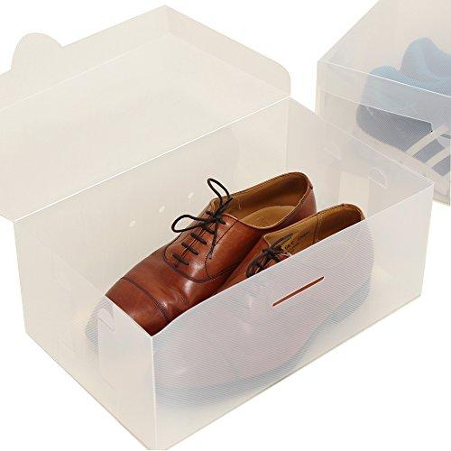 シューズボックス 2箱入り 送料無料 Lサイズ 透明クリアーケース 靴箱 収納 男性・女性サイズ B...