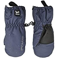 Kids Winter Waterproof Ski Snow Mittens Warm with Zipper for Toddler Boys Girls (Indigo, 1-3 Years)