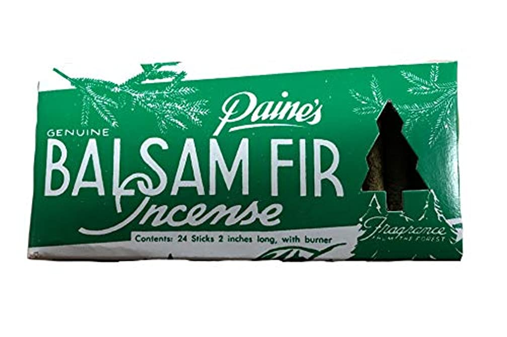 スマイル終了する薬を飲むPaine's Balsam Fir お香 24個パック バーナー付き