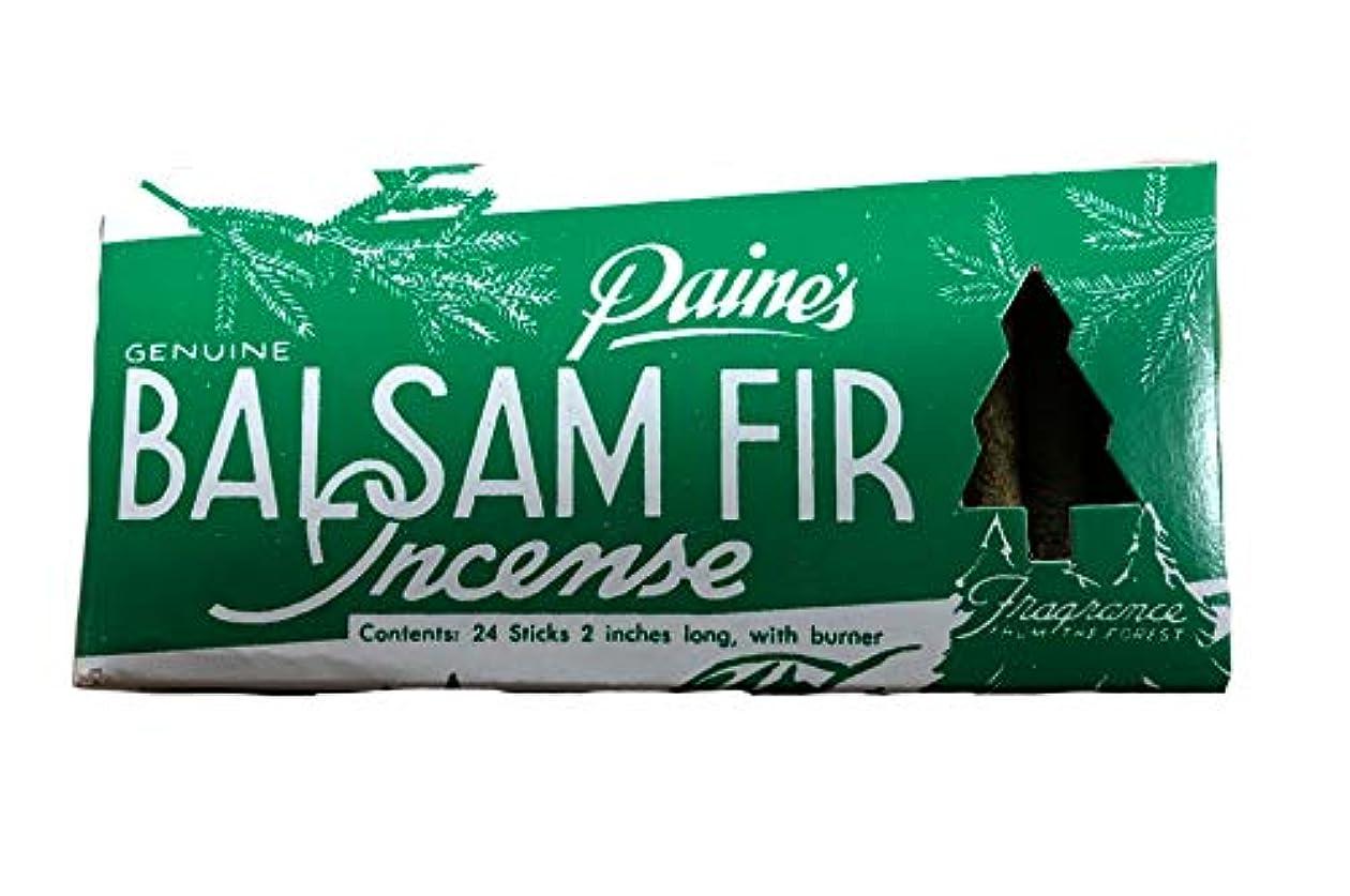 割合怒っている探すPaine's Balsam Fir お香 24個パック バーナー付き