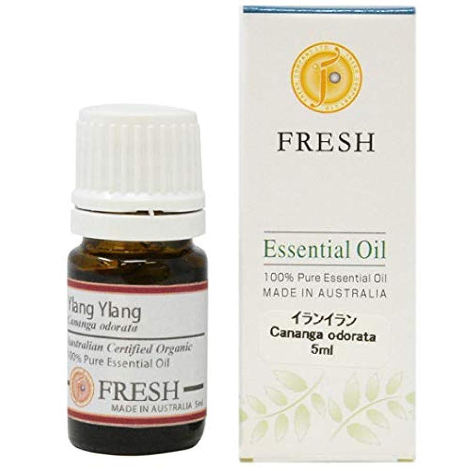 同化出席する細心のFRESH オーガニック エッセンシャルオイル イランイラン 5ml (FRESH 精油)