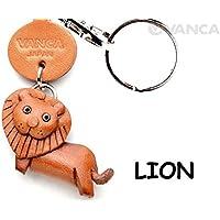 本革製 キーホルダー 動物 ライオン VANCA CRAFT (日本製 職人の手作り)