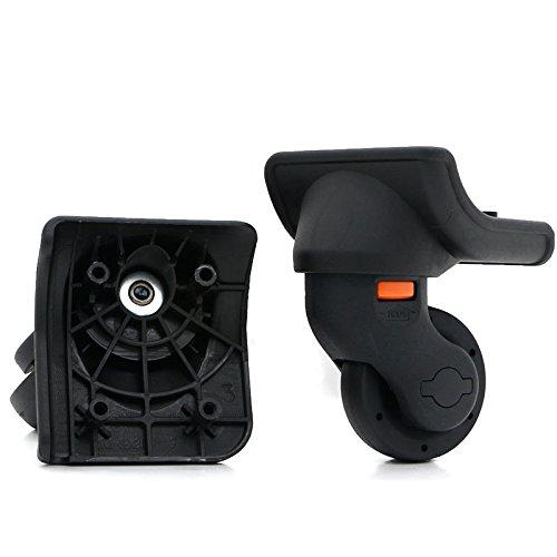 崇明 スーツケースのホイール (1 ペア )取替え  代用品 交換  キャスター スーツケースキャリーボックスなどの車輪補修用 取替え DIY トラベルバッグラゲッジ修理 (W073)