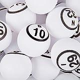 公式professional-use Ping Pong Bingo Balls for手動Bingo Cages、ホワイト色マット仕上げ単一数ピンポンボールセットby Mr。Chips , Inc