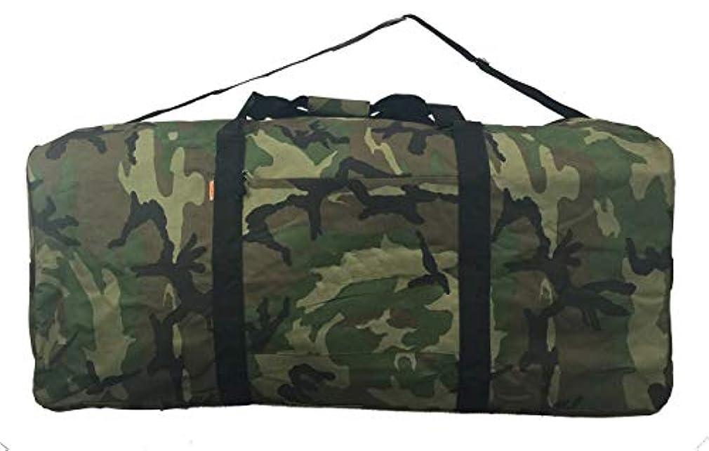賞賛嵐が丘わかりやすいHeavy Duty Cargo Duffel Jumbo Gear Bag Big Drum Set Equipment Hardware Bags Large Square Sport Duffel 42 Inch Oversized Rooftop Travel Bag Huge Rack Roof Ball Traveling Roofbag Camo [並行輸入品]