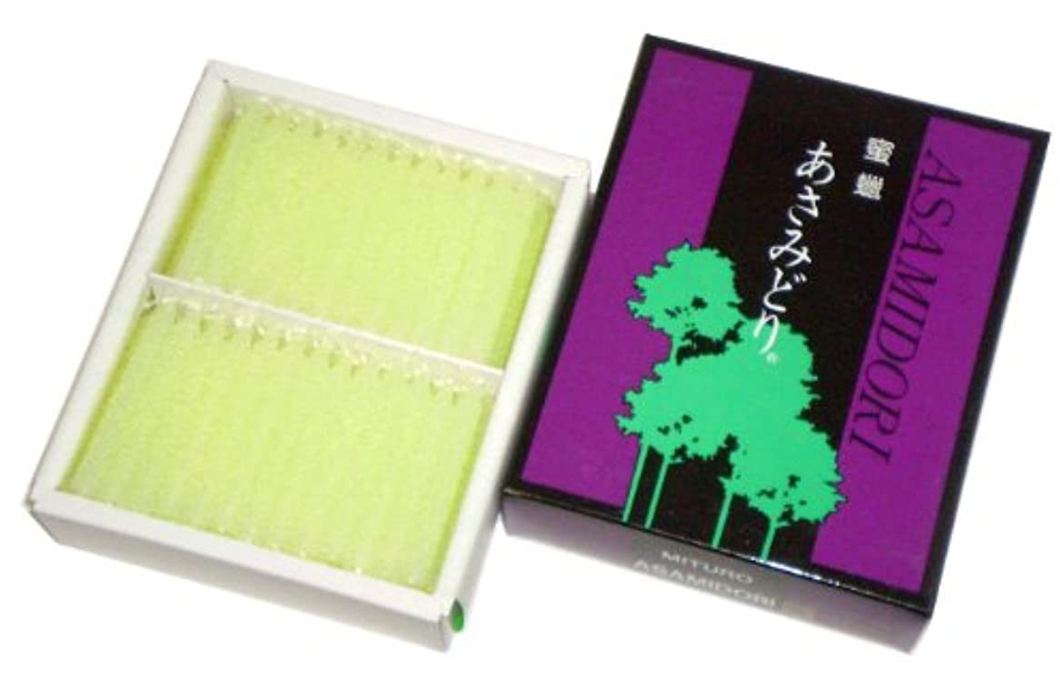 申し立てあいまい占める鳥居のローソク 蜜蝋 あさみどり 太ダルマ130本入(金印) #100501
