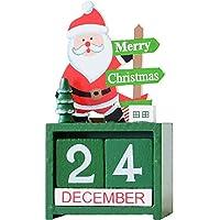 チャミ 卓上カレンダー 木製 万年カレンダー 手動 日めくり インテリア おしゃれ クリスマス装飾(サンタクロース)