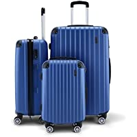 3Pc Luggage Suitcase Set with 3X Covers & TSA Lock